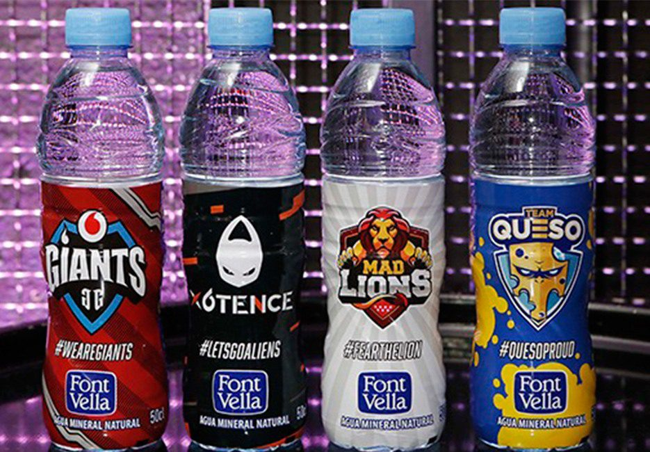 FontVella botellas packaging esports