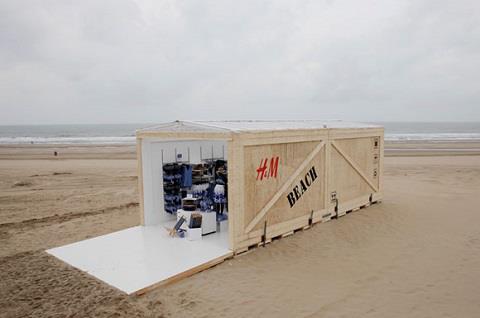 Pop up store de H&M en plena playa